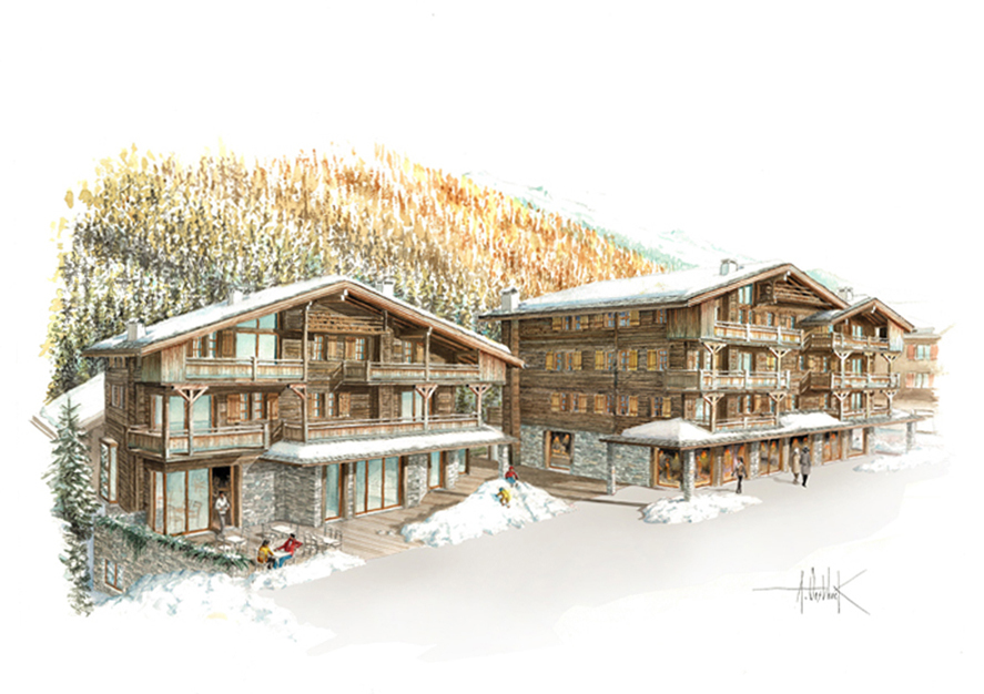 Large flocons de neige r.